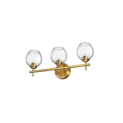 3lt Halogen Vanity Vb W/ Clear Glass