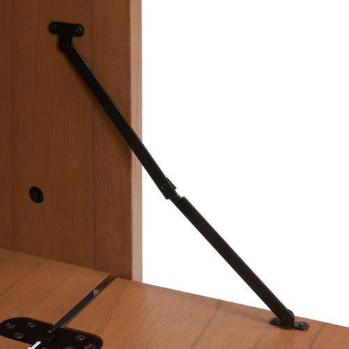 Vlad 3 Shelf 1 Door Etagere - Natural / Charcoal