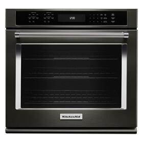 "27"" Single Wall Oven with Even-Heat™ True Convection - Black Stainless Steel with PrintShield™ Finish"