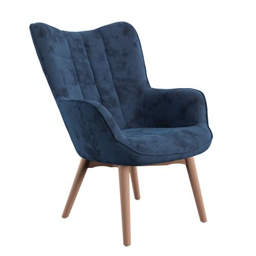 Accent Chair-navy Blue