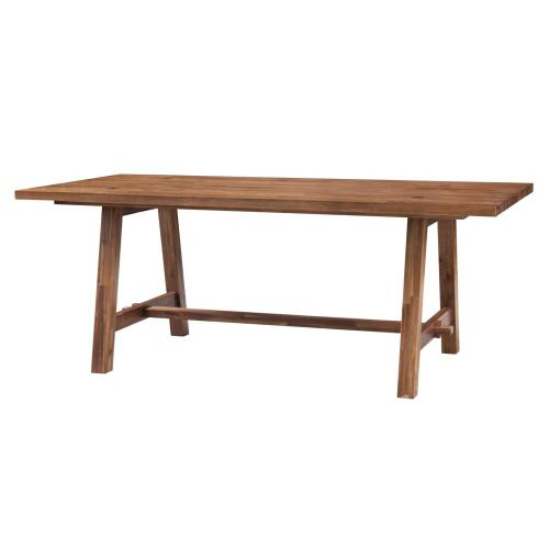 """Bedford 79"""" Rect. Dining Table """"A"""" Base, Brushed Brown"""