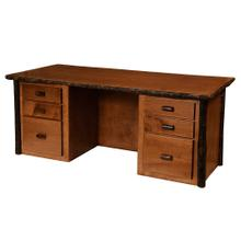 Executive Desk - Natural Hickory - Armor Finish