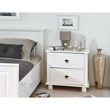 See Details - 20900025 - Solid Wood Danz-1 2-Drawer Night Stand, Whitewash
