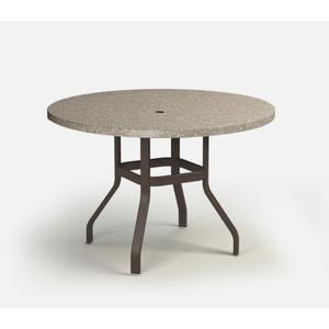 """42"""" Round Balcony Table (with Hole) Ht: 34.25"""" 37XX Universal Aluminum Base (Model # Includes Both Top & Base)"""