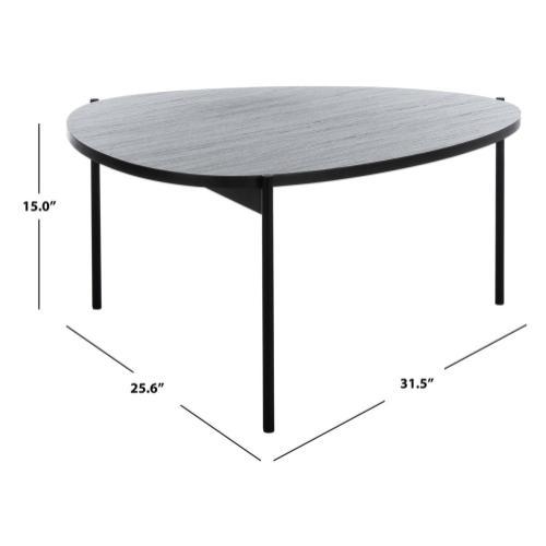 Safavieh - Sven Coffee Table - Dark Grey Oak / Black