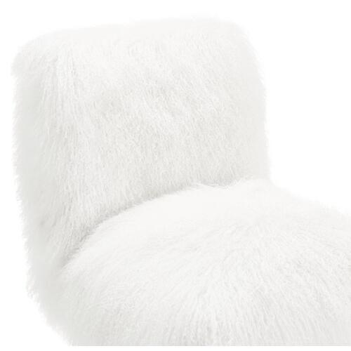 Tov Furniture - Sophie White Sheepskin Lucite Chair