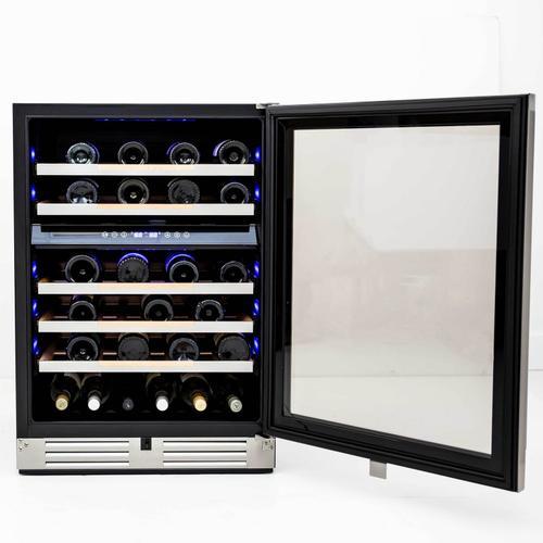 46 Bottle ELITE Series Dual-Zone Wine Cooler