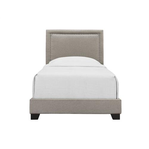 Emerald Home Upholstered Twin 3/3 Headboard-footboard-siderails Beige #linen #m10084