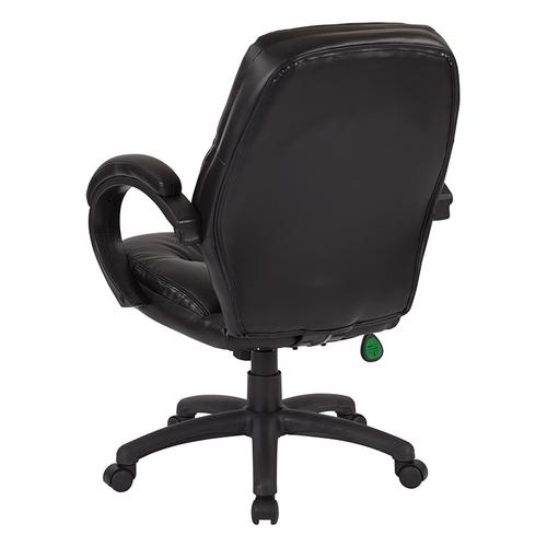 Deluxe Black Faux Leather Managers Chair