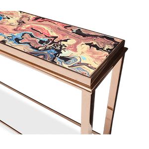 Mystique Console Table Rose Gold