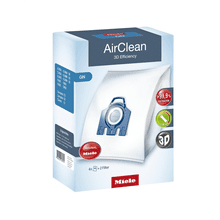 AirClean 3D Efficiency GN dustbags ensures that dust picked up stays inside the machine.