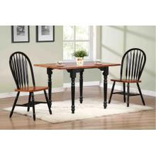 DLU-TLD3448-820-BCH3PC  3 Piece Drop Leaf Dining Set  Arrowback Chairs