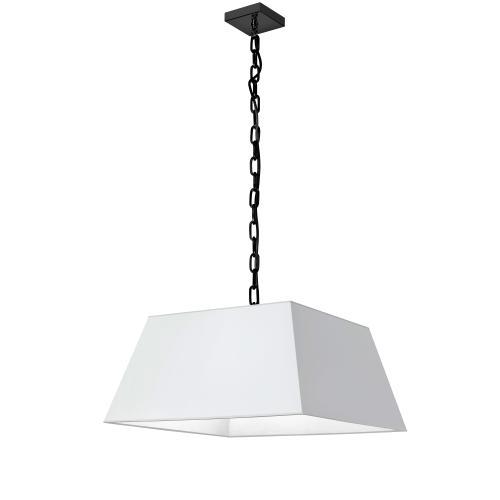 Product Image - 1lt Milano Medium Pendant, Wht Shade, Blk
