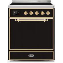 30 Inch Glossy Black Electric Freestanding Range