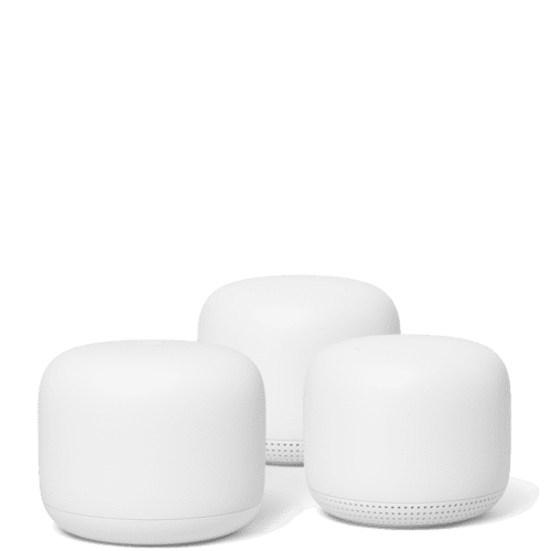 Nest - Google Nest Wifi Router Point 2 Pack Snow Up To 5400 Square Feet.