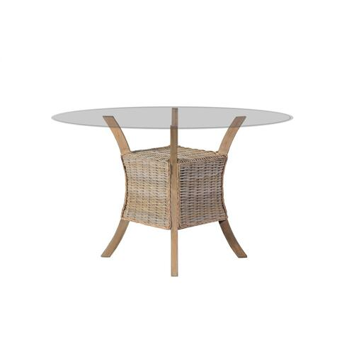 Pedestal Table, Available in Grey Wash or Royal Oak Finish.