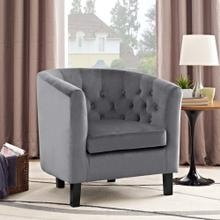 Prospect Performance Velvet Armchair in Gray