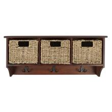 See Details - Finley Hanging 3 Basket Wall Rack - Cherry
