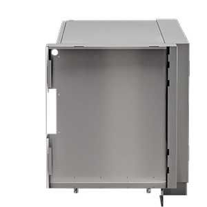 OUTDOOR KITCHEN CABINETS IN STAINLESS STEEL 90° Corner Filler cabinet Right end