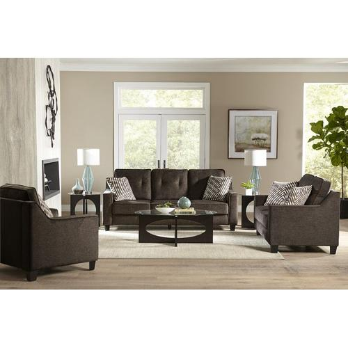 Marco Upholstered Sofa, Chocolate Brown