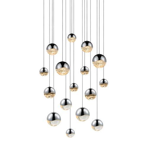 Sonneman - A Way of Light - Grapes® LED Pendant [Size=16-Light Assorted, Color/Finish=Polished Chrome, Shape=Square Canopy]
