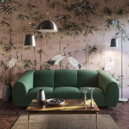 Product Image - Emmet Forest Green Velvet Sofa