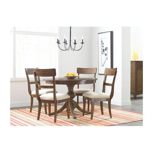 "44"" Round Dining Table With Wood Base"
