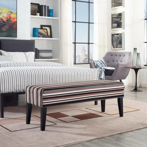 Modway - Connect Upholstered Fabric Bench in Stripe