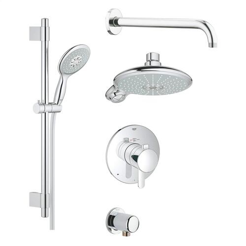 Europlus Cosmopolitan Thermostatic Shower Set, 2.5 Gpm