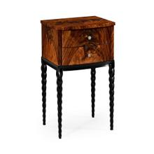 Lamp table with black twisted legs