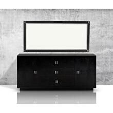 A&X Bellagio - Modern Black Crocodile Lacquer Dresser