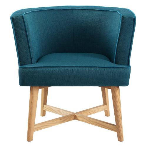 Modway - Anders Upholstered Fabric Accent Chair in Azure