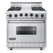 "Lemonade 36"" Sealed Burner Dual Fuel Range - VDSC (36"" wide range with four burners, 12"" wide griddle/simmer plate, single oven)"