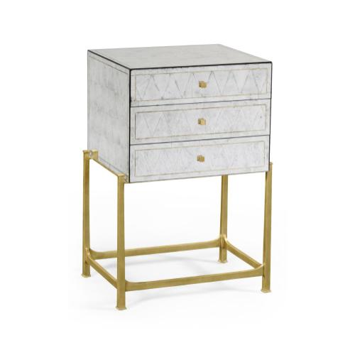 glomise & Gilded High Chest of Drawers