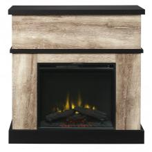 Sarah Media Console Electric Fireplace - Distressed Oak