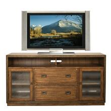 Falls Creek TV Console Chestnut finish