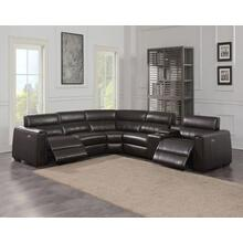 Nara 6-Piece Dual-Power Leather Reclining Sectional