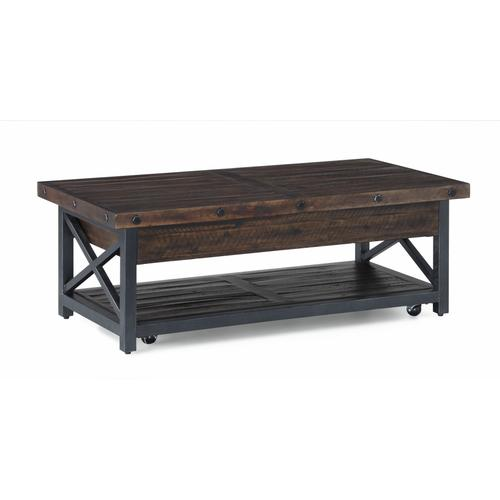 Flexsteel - Carpenter Rectangular Lift-Top Coffee Table with Casters