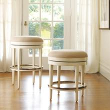 Carmel Counter Stool-Swivel-Backless W/ Brass Protector