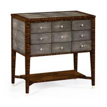 Faux macassar ebony & anthracite shagreen 9-drawer chest