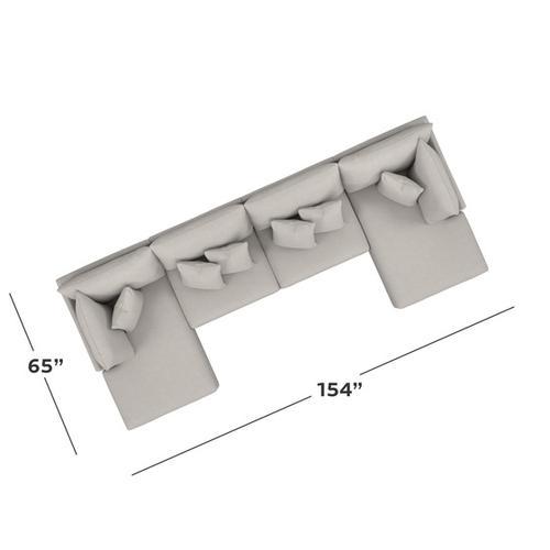 Bassett Furniture - Beckham Double Chaise Sectional