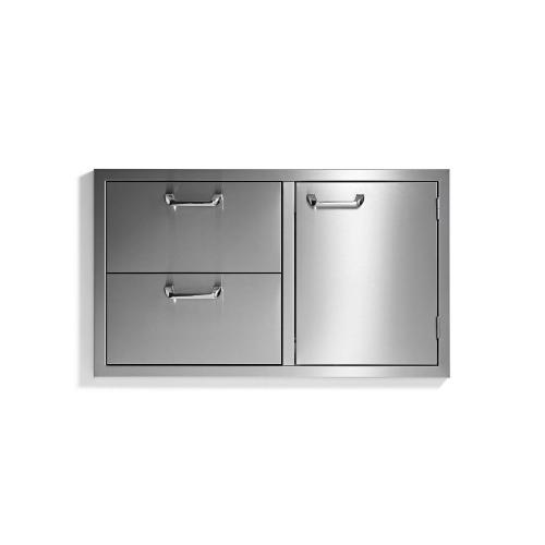 "36"" storage door & double drawer combo - Sedona by Lynx Series"