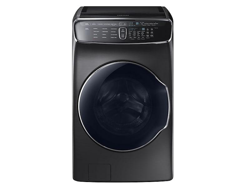 Samsung6.0 Cu Ft. Smart Washer With Flexwash In Black Stainless Steel
