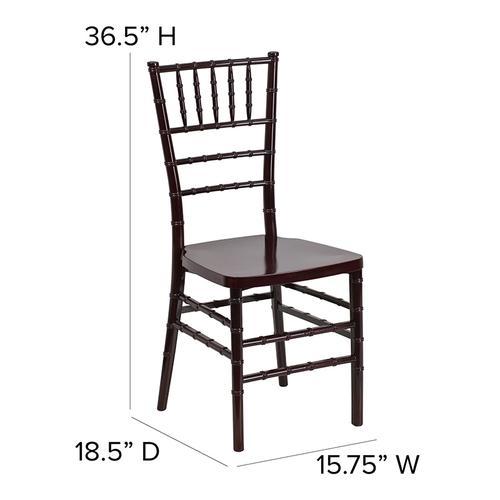Flash Furniture - HERCULES PREMIUM Series Mahogany Resin Stacking Chiavari Chair
