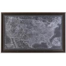 US Map Blueprint Wall Art