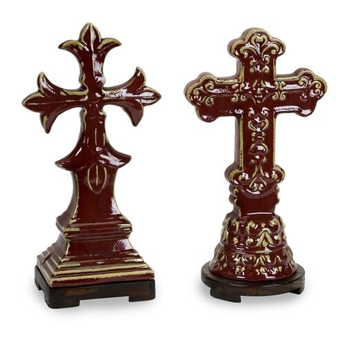 CKI Cardinal Crosses - Set of 2