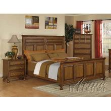 Oak Finish Cal King Bedroom Set