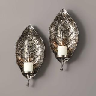 See Details - Zelkova Candle Sconces, S/2