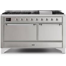 """60"""" Inch Stainless Steel Natural Gas Freestanding Range"""