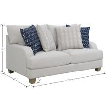 Emerald Home Loveseat W/ 4 Accent Pillows U4389-01-03a